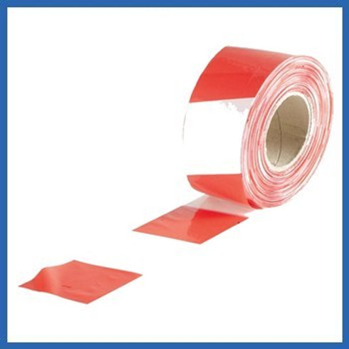 Everbuild	72mm x 500mtr Red and White Barrier tape