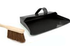 Semi enclosed metal Dustpan and Brush