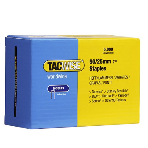 90/25mm Staples. 90 Series Tacwise. (5000)