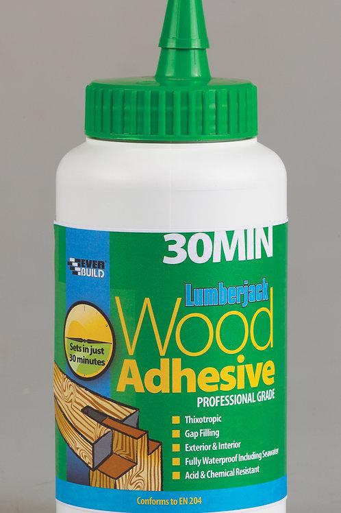 Everbuild Lumberjack 30 min Wood Adhesive 750ml