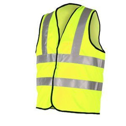 Large Yellow High Visibility Vest Warrior