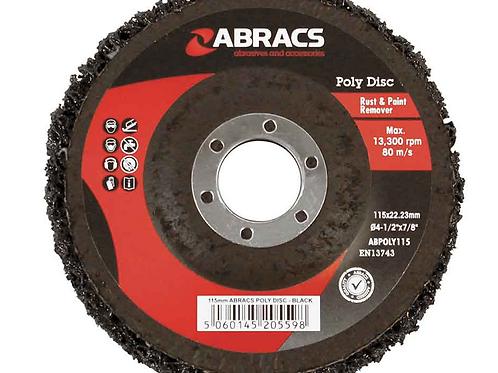 Abracs 115mm x 22mm Black Poly Disc