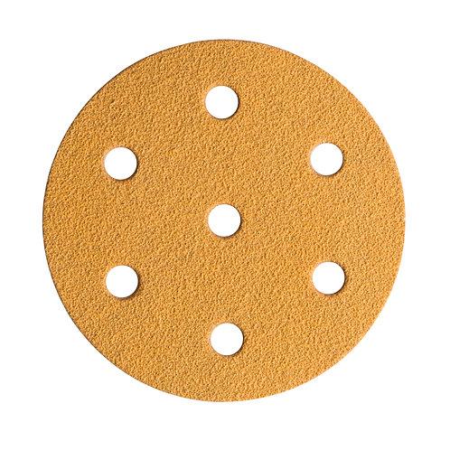 MIRKA GOLD 90mm 7 Hole Sanding discs. Grip Backed 100 discs supllied