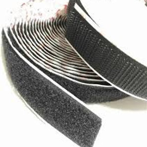 Black Self Adhesive loop tape 25mm x 25metres