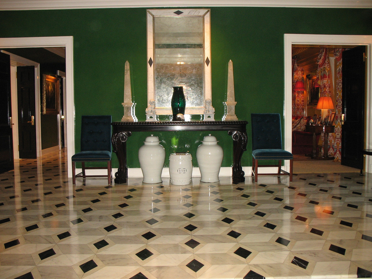 Painted Marble floor