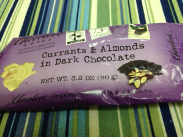 chocolove currants almonds dark chocolate