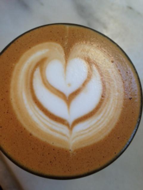 Toby's Estate, cortado, coffee, latte art, heart, art