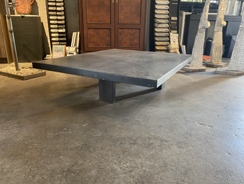 Polished Charcoal Concrete Cocktail Table