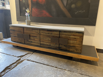 Reclaimed Pallet Wood Low Console