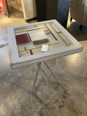 Concrete & Steel Occassional Table