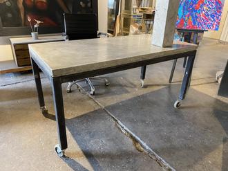 Concrete & Steel Desk or Table
