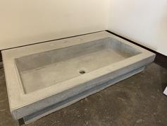Concrete Top Mount Sink