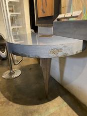 Blue Spike Concrete Table