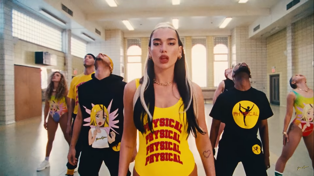 """Let's Get Physical Work Out"" de Dua Lipa es un homenaje a Jane Fonda - Fotografía de YouTube"