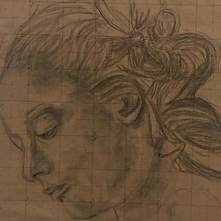 Big Head Sketch- Charcoal