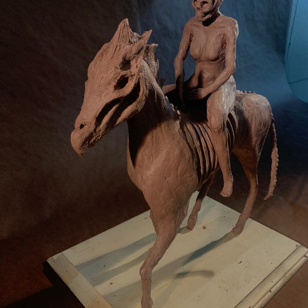 Horse and figur