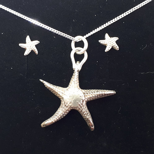 Starfish Pendant and studs