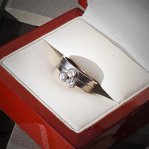 White Gold and Diamond Wedding Set