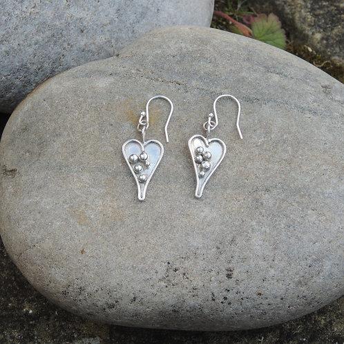 Bubble Heart earrings
