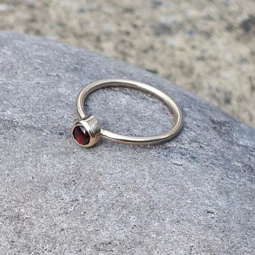Gold & Garnet Ring