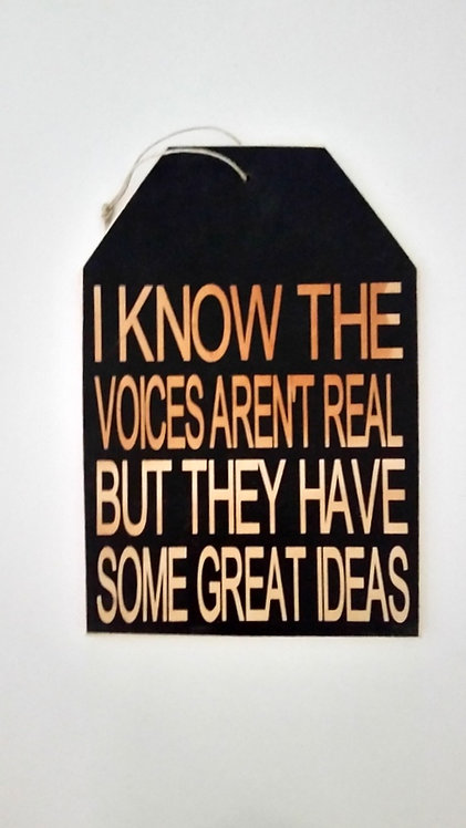 "5 1/2"" x 8"" Small Tag Sign VOICES"