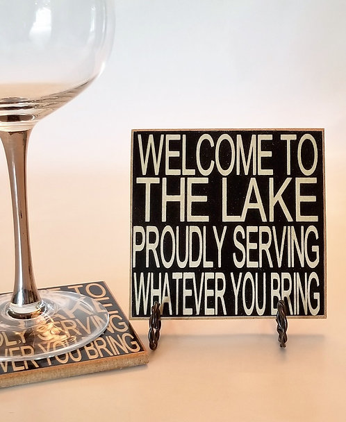 "4"" x 4"" Coaster LAKE/SERVING"