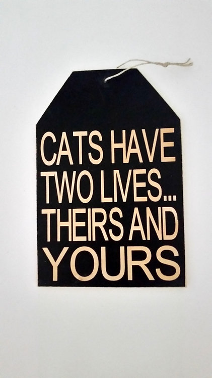 "5 1/2"" x 8"" Small Tag Sign CATS"