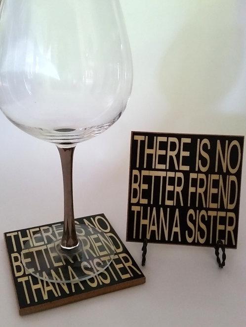 "4"" x 4"" Coaster FRIEND/SISTER"