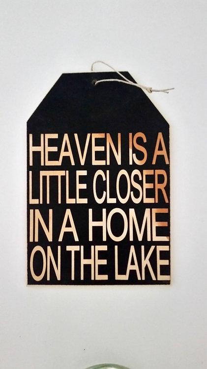 "5 1/2"" x 8"" Small Tag Sign HEAVEN/LAKE"