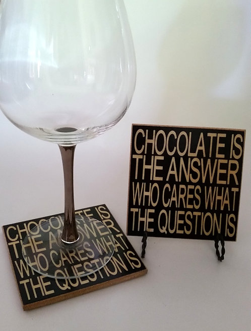 "4"" x 4"" Coaster CHOCOLATE"