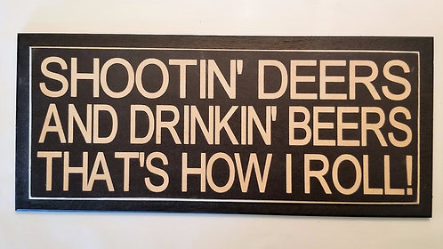 "14"" x 6"" Double layer square sign DEER"