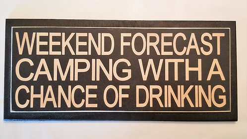 "14"" x 6"" Double layer square sign CAMPING/FORECAST"