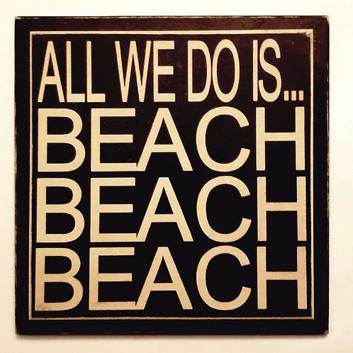"7"" x 7"" Double layer square sign BEACH"