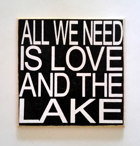 "2"" X 2"" Magnet LOVE/LAKE"