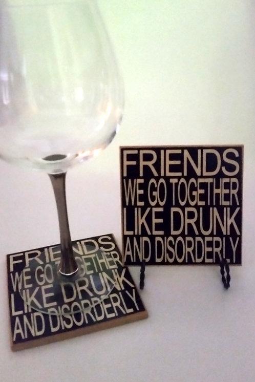 "4"" x 4"" Coaster FRIENDS"