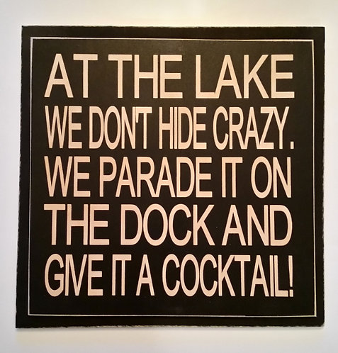 "12"" x 12"" Double layer square sign LAKE/COCKTAIL"