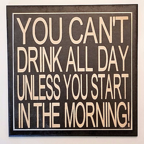 "7"" x 7"" Double layer square sign DRINK/DAY"
