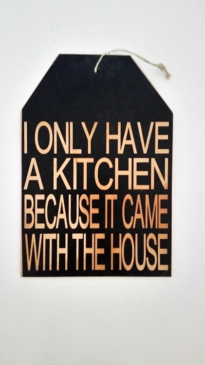 """5 1/2"""" x 8"""" Small Tag Sign KITCHEN"""