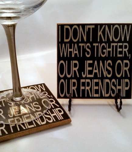 "4"" x 4"" Coaster FRIENDSHIP"