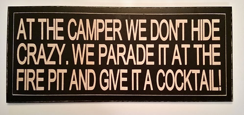 """14"""" x 6"""" Double layer square sign CAMPER/FIRE PIT"""