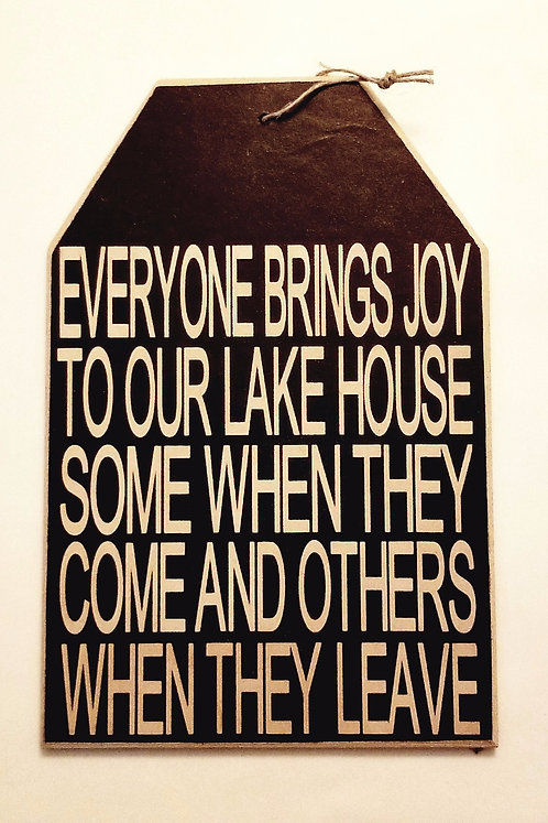 "5 1/2"" x 8"" Small Tag Sign LAKEHOUSE"