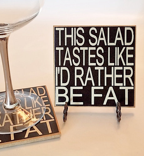 "4"" x 4"" Coaster SALAD/FAT"