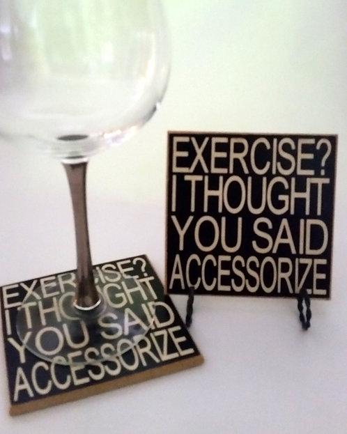 "4"" x 4"" Coaster EXERCISE"