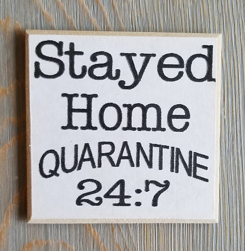"""3"""" X 3"""" Magnet STAY/HOME"""