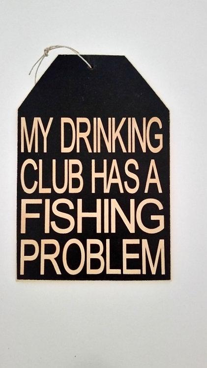 "5 1/2"" x 8"" Small Tag Sign FISHING"