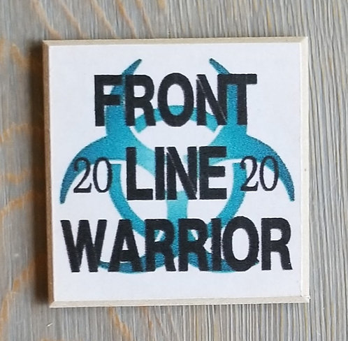 "3"" X 3"" Magnet WARRIOR"