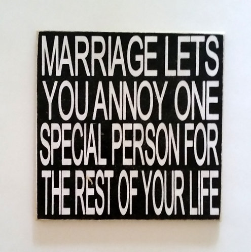 "2"" X 2"" Magnet MARRIAGE/ANNOY"