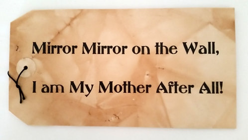 "16"" x 8 1/2"" LARGE TAG SIGN MIRROR"