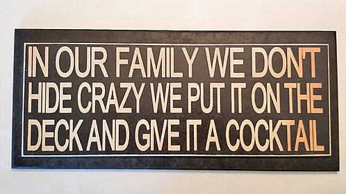 """14"""" x 6"""" Double layer square sign FAMILY/DECK"""