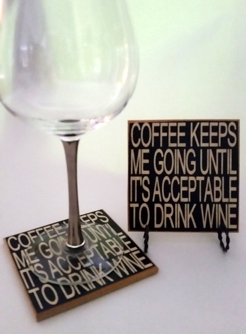 "4"" x 4"" Coaster WINE/ACCEPTABLE"